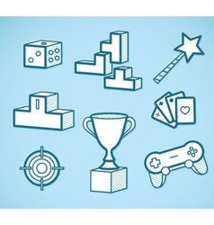 set of game icons vector image