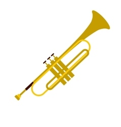 Trumpet simple flat icon vector