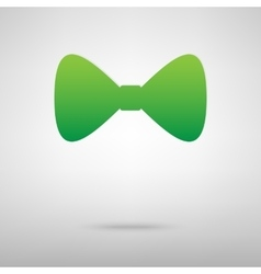 Green bow tie icon vector