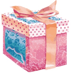 Gift box on a white background vector