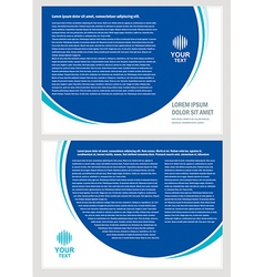 Brochure folder simple design cmyk vector