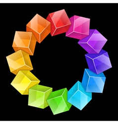 Abstract cubes frame vector