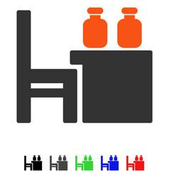Apothecary table flat icon vector