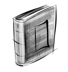 Book isolated on white sketch vector