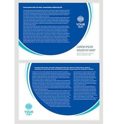 brochure folder simple design cmyk vector image vector image
