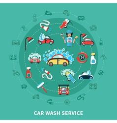 Car wash round composition vector