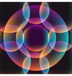 circle abstract vibrant background vector image vector image