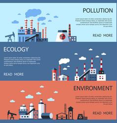 Digital blue factory pollution vector