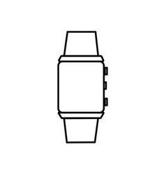 digital watch icon vector image