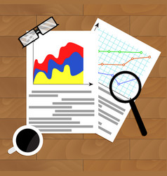 File with diagram marketing vector