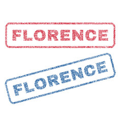 Florence textile stamps vector