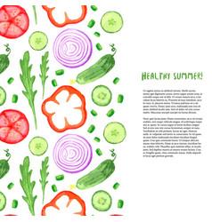 Hand paint watercolor vegetables set watercolor vector