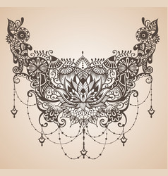Henna lotus tattoo for your body design vector