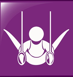 Icon for gymnastics with rings vector