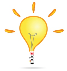 Idea bulb vector