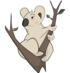 Koala bear on a tree Cartoon vector image vector image