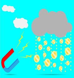 Magnet rain money vector