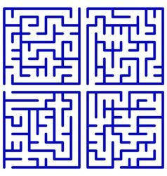 Maze set vector