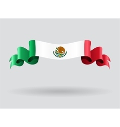 Mexican wavy flag vector