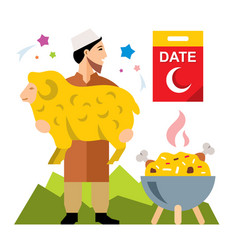 Muslim holiday of ramadan flat style vector
