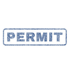permit textile stamp vector image vector image