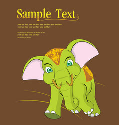thai elephant cute animal character isolated on vector image