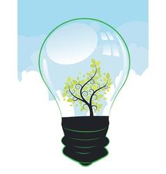 Tree in a Lightbulb vector image