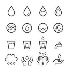 water icon line vector image