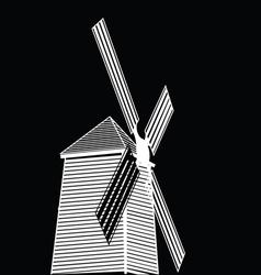 wind turbine eco concept vector image vector image