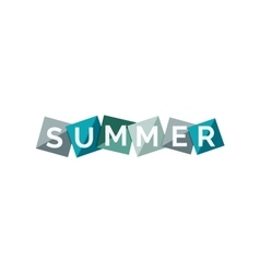 Word concept on color geometric shapes - summer vector image vector image