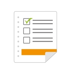 Archive checklist document file vector