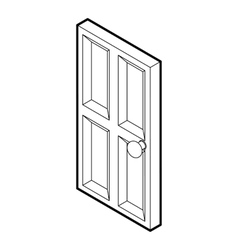 Wooden door icon outline style vector