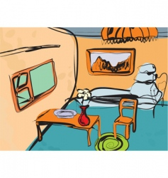 artistic room vector image