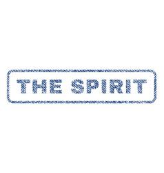 The spirit textile stamp vector