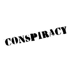 Conspiracy rubber stamp vector