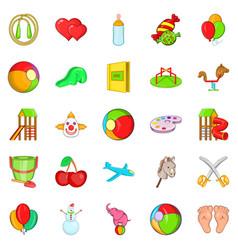 child icons set cartoon style vector image