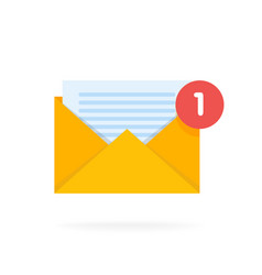 Mail envelope icon with documents email send vector