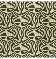 Ornate textile print vector