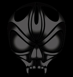 Skull devil on dark background vector