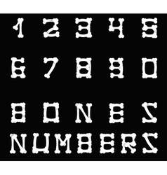 Bones numbers black vector