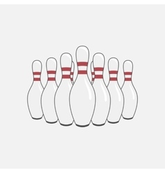 Group of bowling pins vector