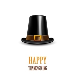 Pilgrim hat thanksgiving symbol vector