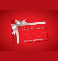 blank christmas tag vector image