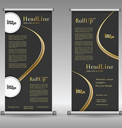 Mega collection of roll up banners design 3 vector