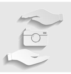 Digital photo camera icon vector image