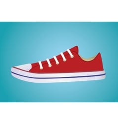 Banner with sneakers vector