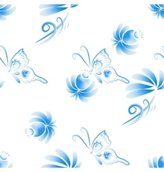 Abstract floral seamless background vector image
