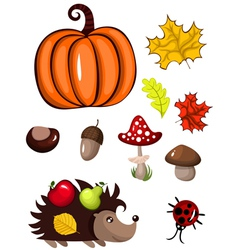 autumn design elements vector image vector image