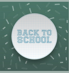 Back to school circle banner with shadow vector