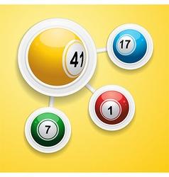 Bingo balls on circular white frames vector